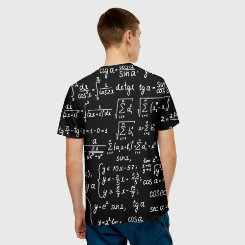 Мужская футболка 3D ФОРМУЛЫ АЛГЕБРА Фото 01