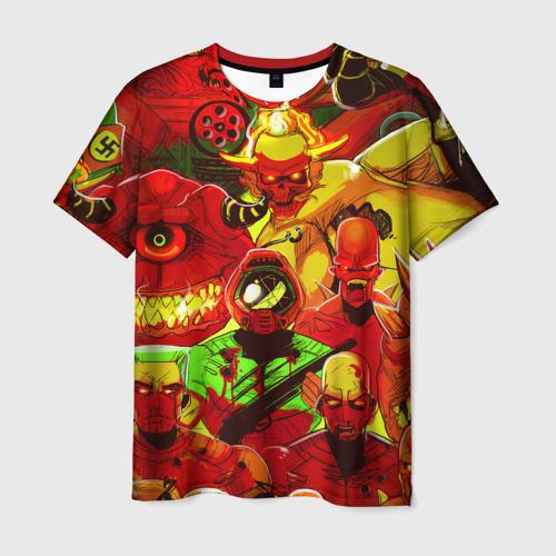 Мужская футболка 3D  Фото 01, DOOM