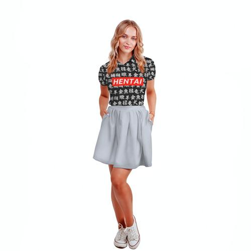 Женская рубашка поло 3D HENTAI  Фото 01