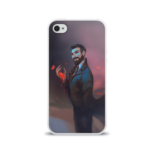 Чехол для Apple iPhone 4/4S силиконовый глянцевый  Фото 01, Доктор Рид_
