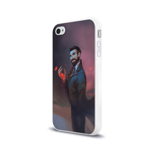 Чехол для Apple iPhone 4/4S силиконовый глянцевый  Фото 03, Доктор Рид_