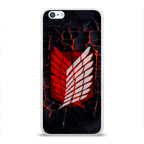 Чехол для iPhone 6/6S Plus глянцевый Атака Титанов Фото 01
