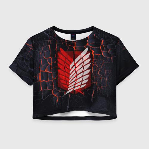 Женская футболка Crop-top 3D Атака Титанов Фото 01