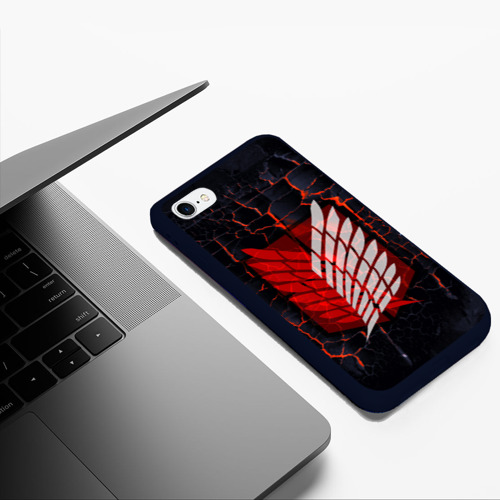 Чехол для iPhone 6/6S Plus матовый Атака Титанов Фото 01