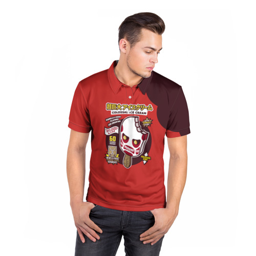 Мужская рубашка поло 3D  Фото 05, Атака титанов