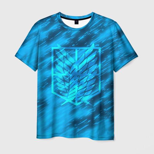 Мужская футболка 3D  Фото 01, АТАКА ТИТАНОВ