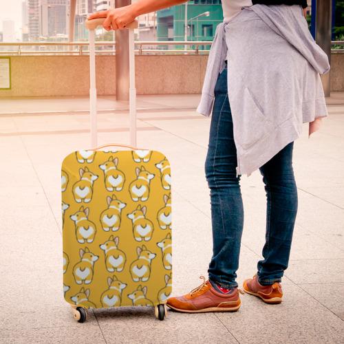 Чехол для чемодана 3D Корги Паттерн Фото 01