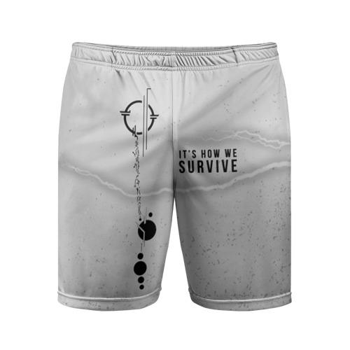Мужские шорты 3D спортивные It's how we survive