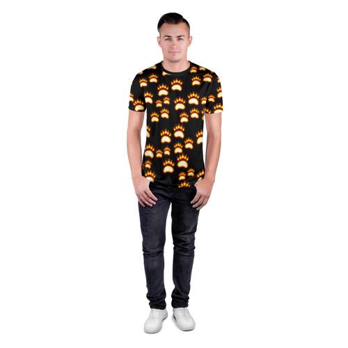 Мужская футболка 3D спортивная  Фото 04, Сила удара медведя