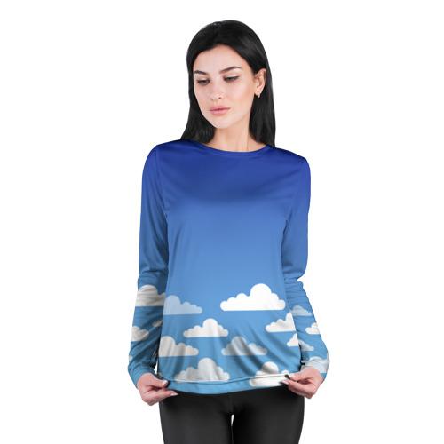 Женский лонгслив 3D для беременных  Фото 04, clouds
