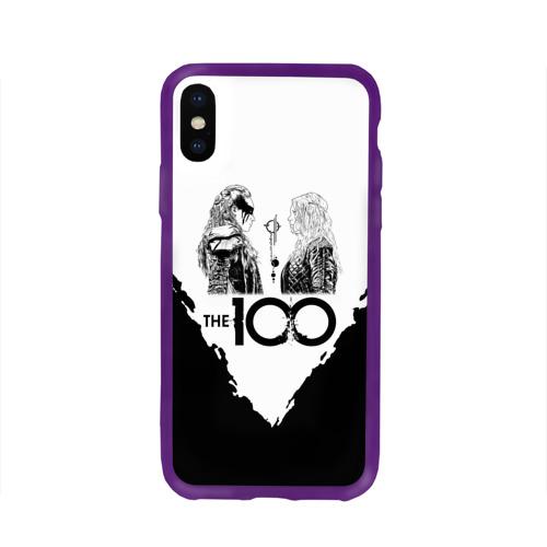 Чехол для Apple iPhone X силиконовый глянцевый The 100 Фото 01