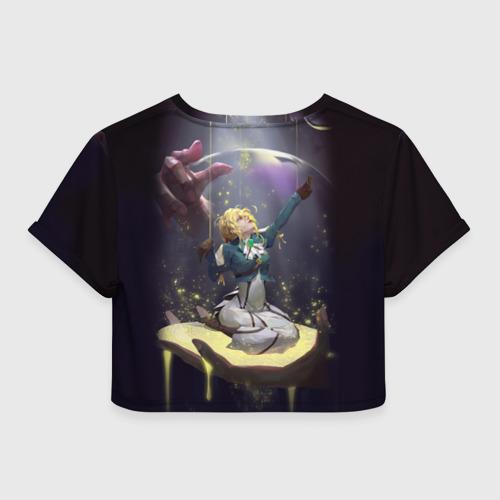 Женская футболка Crop-top 3D Вайолет Эвергарден Фото 01
