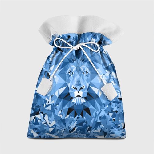 Подарочный 3D мешок Сине-бело-голубой лев