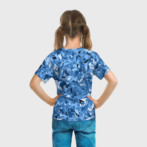 Детская футболка 3D  Фото 04, Сине-бело-голубой лев
