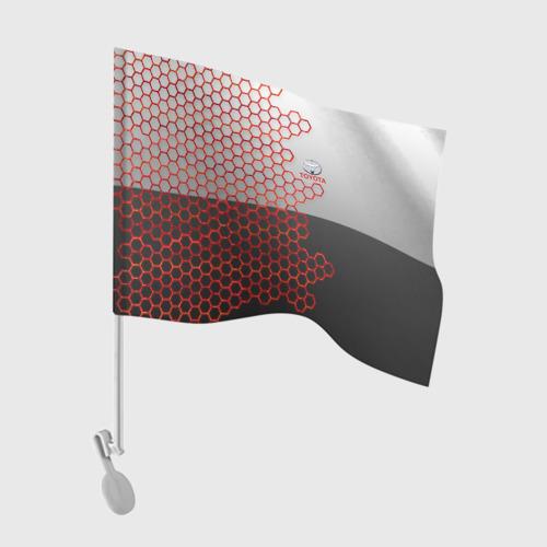 Флаг для автомобиля Toyota brend: Соты Фото 01