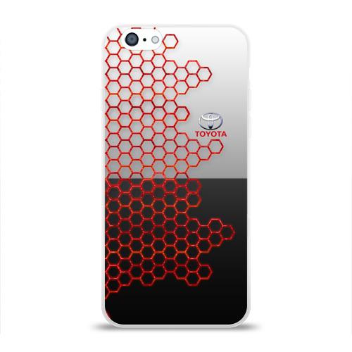 Чехол для Apple iPhone 6 силиконовый глянцевый Toyota brend: Соты Фото 01