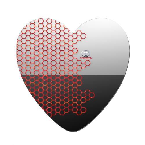 Магнит виниловый сердце Toyota brend: Соты Фото 01