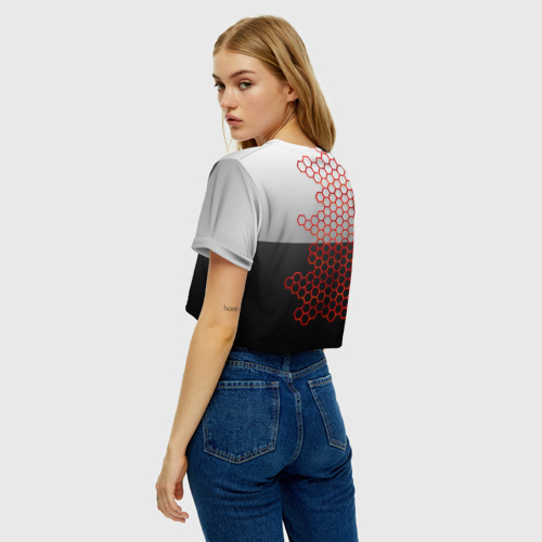 Женская футболка Crop-top 3D TOYOTA. Фото 01