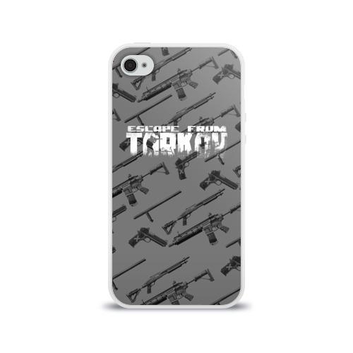 Чехол для Apple iPhone 4/4S силиконовый глянцевый ESCAPE FROM TARKOV Фото 01