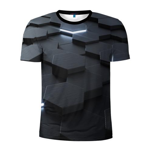 Мужская футболка 3D спортивная НАНО СОТЫ Фото 01