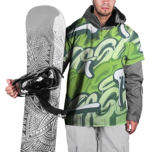 Накидка на куртку 3D Green Letters Фото 01