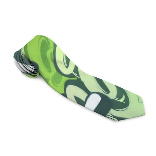 Галстук 3D Green Letters