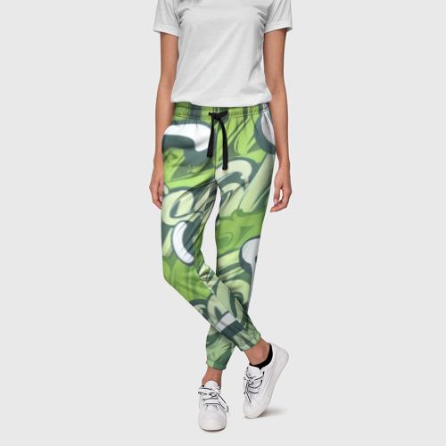 Женские брюки 3D Green Letters Фото 01