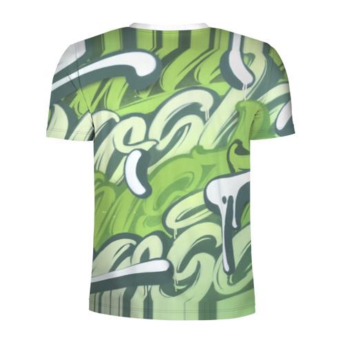 Мужская футболка 3D спортивная  Фото 02, Green Letters