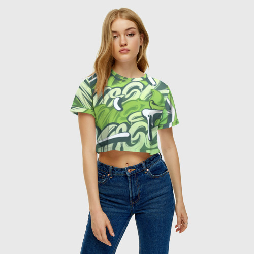 Женская футболка Cropp-top Green Letters Фото 01