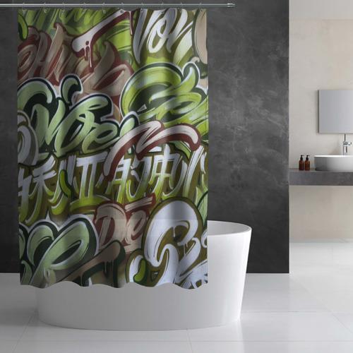 Штора 3D для ванной Mixletters Фото 01