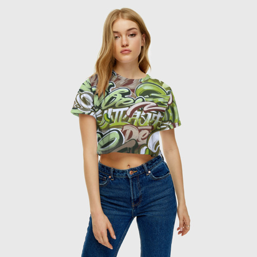 Женская футболка Cropp-top Mixletters Фото 01