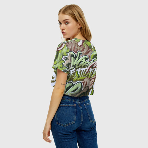 Женская футболка Crop-top 3D Mixletters Фото 01