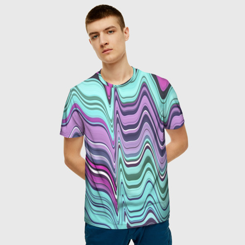 Мужская футболка 3D Melted letter Фото 01
