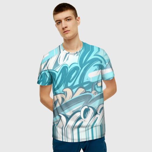 Мужская футболка 3D Glitch letters Фото 01