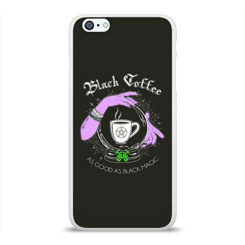 Чехол для Apple iPhone 6Plus/6SPlus силиконовый глянцевый  Фото 01, Black coffee