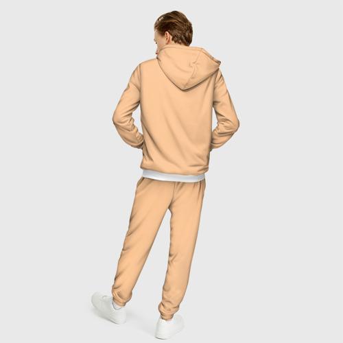 Мужской костюм 3D Енот и кофе Фото 01
