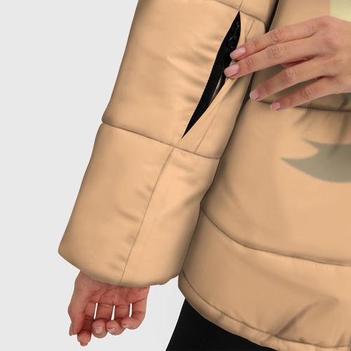 Женская зимняя куртка Oversize Енот и кофе Фото 01