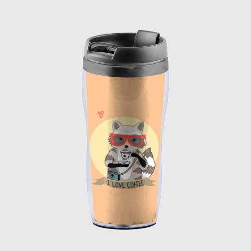 Термокружка-непроливайка Енот и кофе