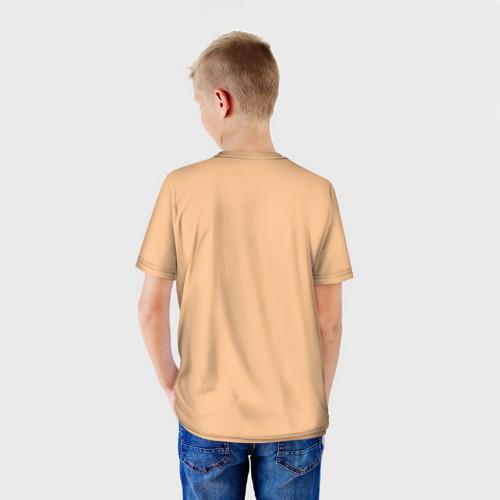 Детская футболка 3D Енот и кофе Фото 01