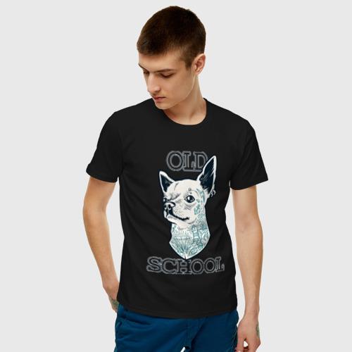Мужская футболка хлопок Old school Chihuahua Фото 01