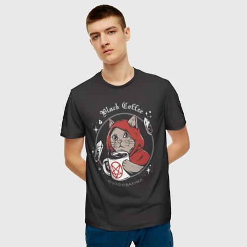 Мужская футболка 3D Cat Wizard Фото 01