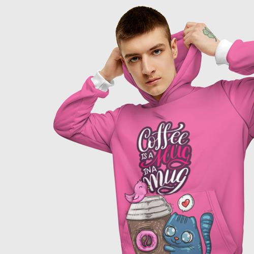 Мужская толстовка 3D Coffee is a hug