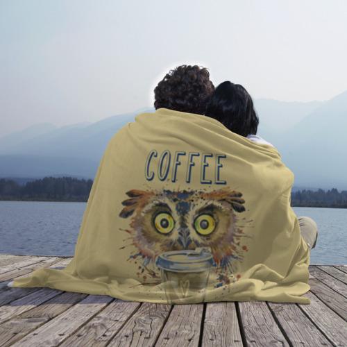 Плед 3D  Фото 02, Сова и кофе
