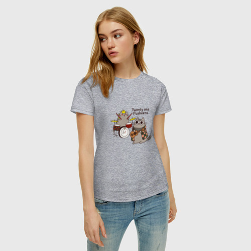 Женская футболка хлопок Twenty One Pusheens Фото 01