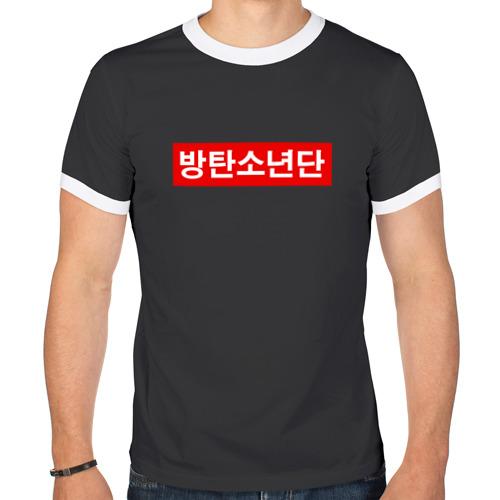 Мужская футболка рингер BTS