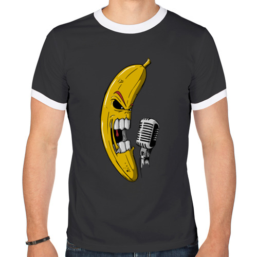 Мужская футболка рингер Банан