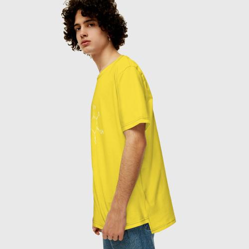 Мужская футболка хлопок Oversize Кофеин Фото 01