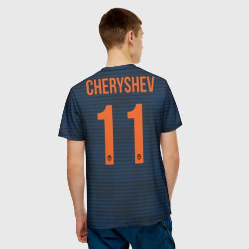 Мужская футболка 3D Валенсия Черышев гостевая Фото 01