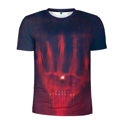Мужская футболка 3D спортивная Give me your hand in death