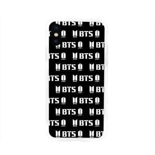 Чехол для Apple iPhone X силиконовый глянцевый  Фото 01, BTS